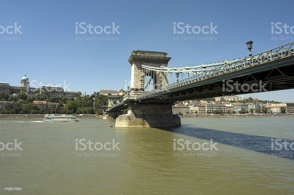 Budapest Bridge royalty-free stock photo