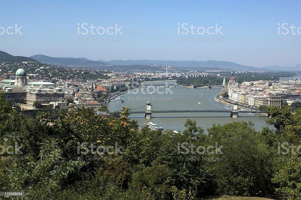 Puente de Budapest foto de stock libre de derechos