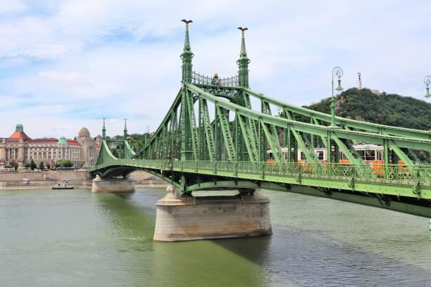Budapest bridge Budapest - Liberty Bridge on river Danube. Hungary capital city. liberty bridge budapest stock pictures, royalty-free photos & images