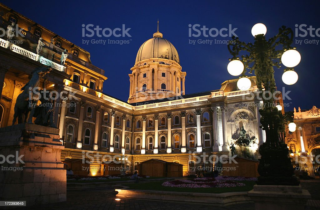 Budapest by night royalty-free stock photo
