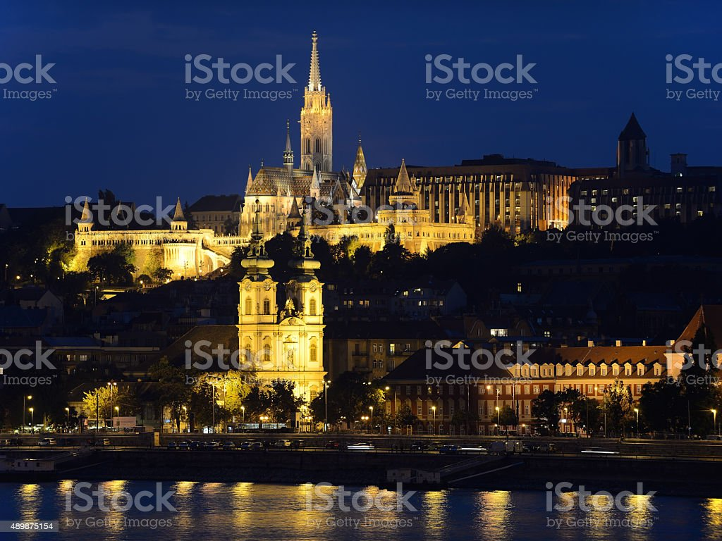 Budapest by night stock photo