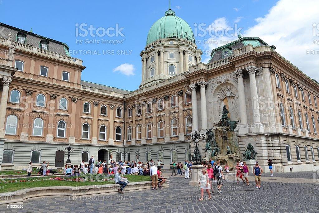 Budapest Castle stock photo