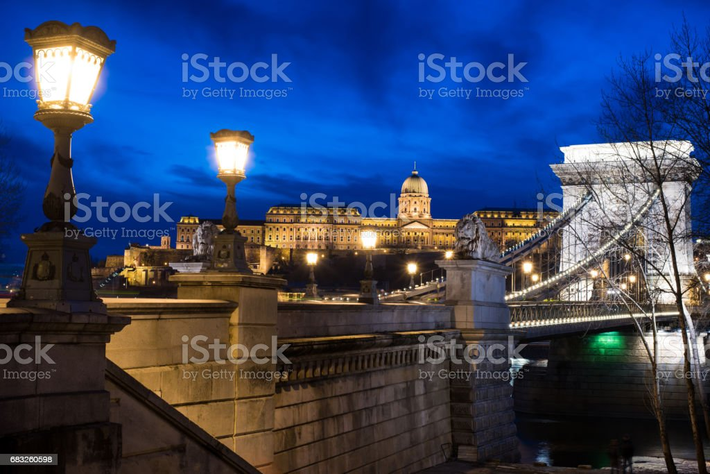 Budapest Chain Bridge royalty-free 스톡 사진