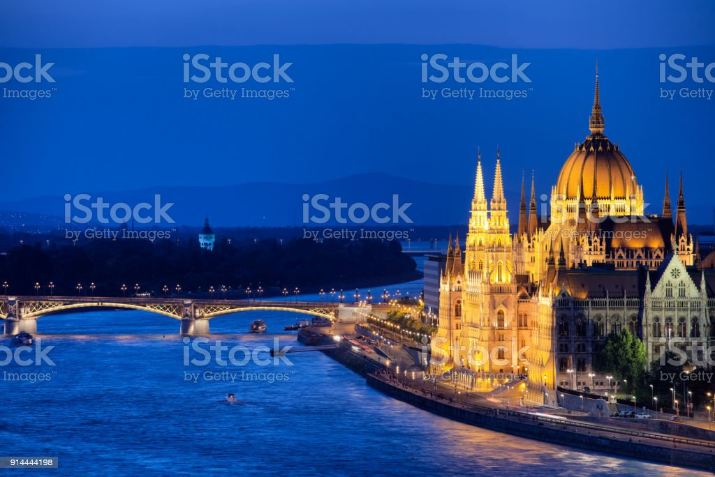 Budapest City by Night stock photo
