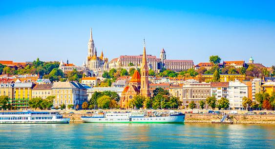 Budapest city skyline and Danube river photo, Hungary travel photo