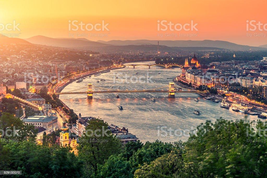 Budapest cityscape Budapest cityscape, Hungary Architecture Stock Photo