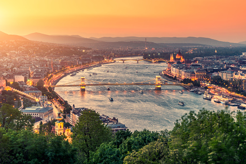 Budapest Cityscape Stock Photo - Download Image Now
