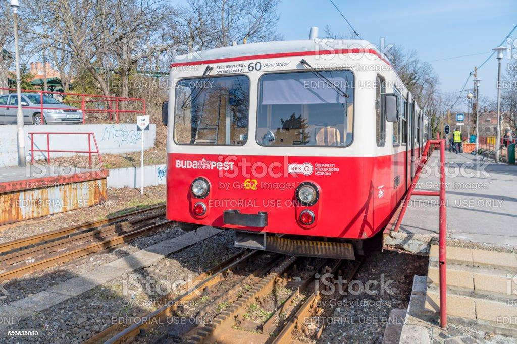 Budapest Cog Railway Carriage stock photo