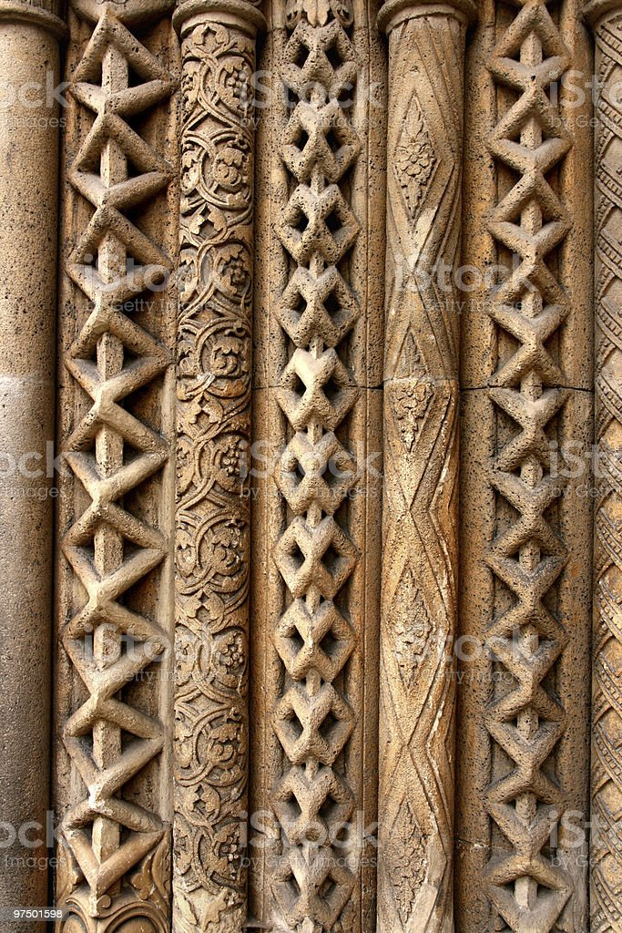 Budapest column patterns royalty-free stock photo