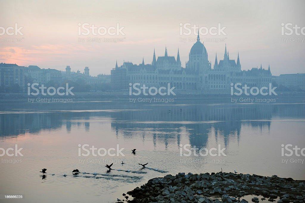 Budapest dawn stock photo