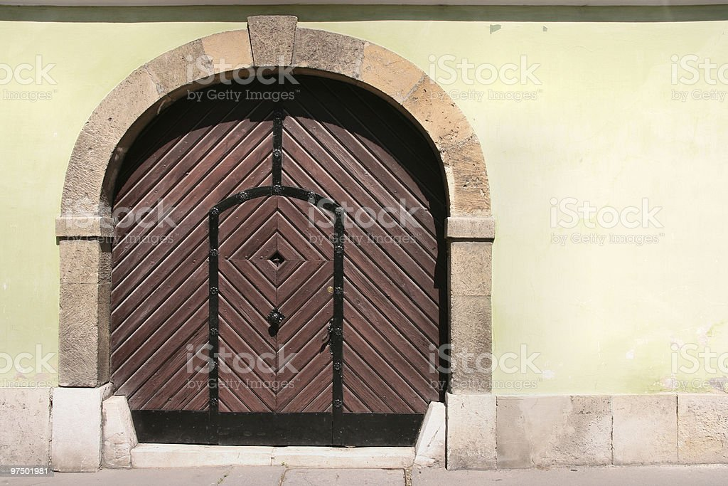 Budapest door royalty-free stock photo