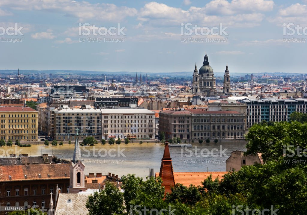 Budapest downtown stock photo
