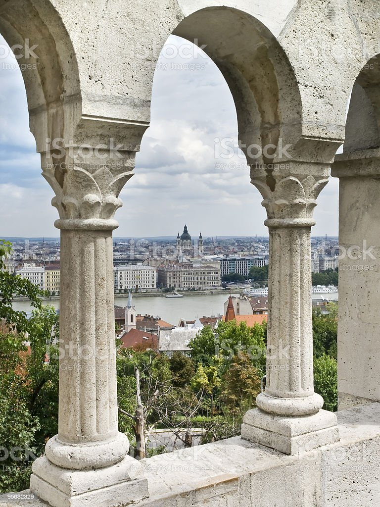 Budapest from the Castle royalty-free stock photo
