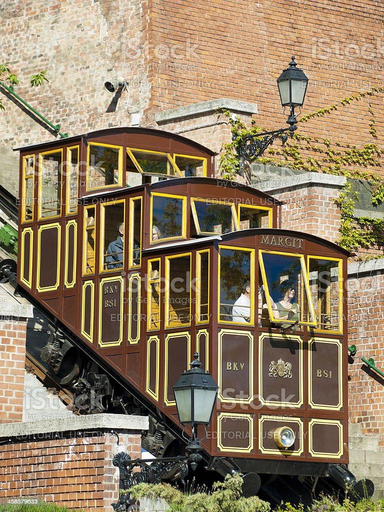 Budapest Furnicular tramway royalty-free stock photo