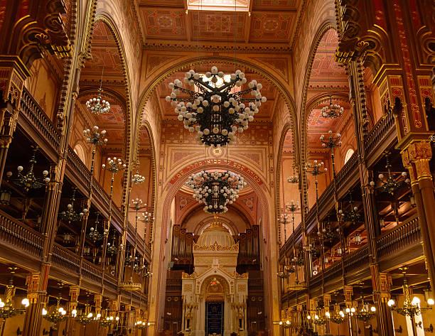 Budapeste grande Synagoge - foto de acervo