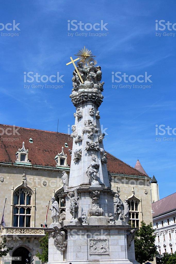 budapest - holy trinity statue stock photo