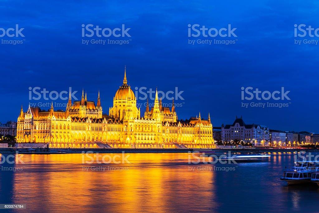 Budapeszt. Węgierski Parlament zbiór zdjęć royalty-free