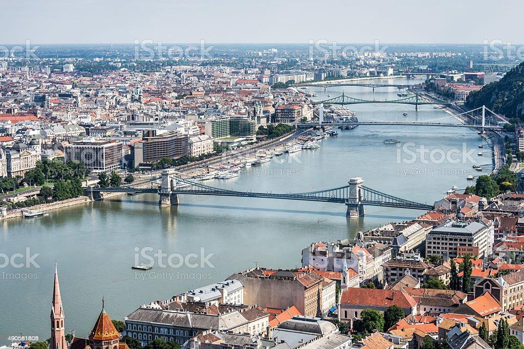 Budapest, Hungary - Aerial view stock photo