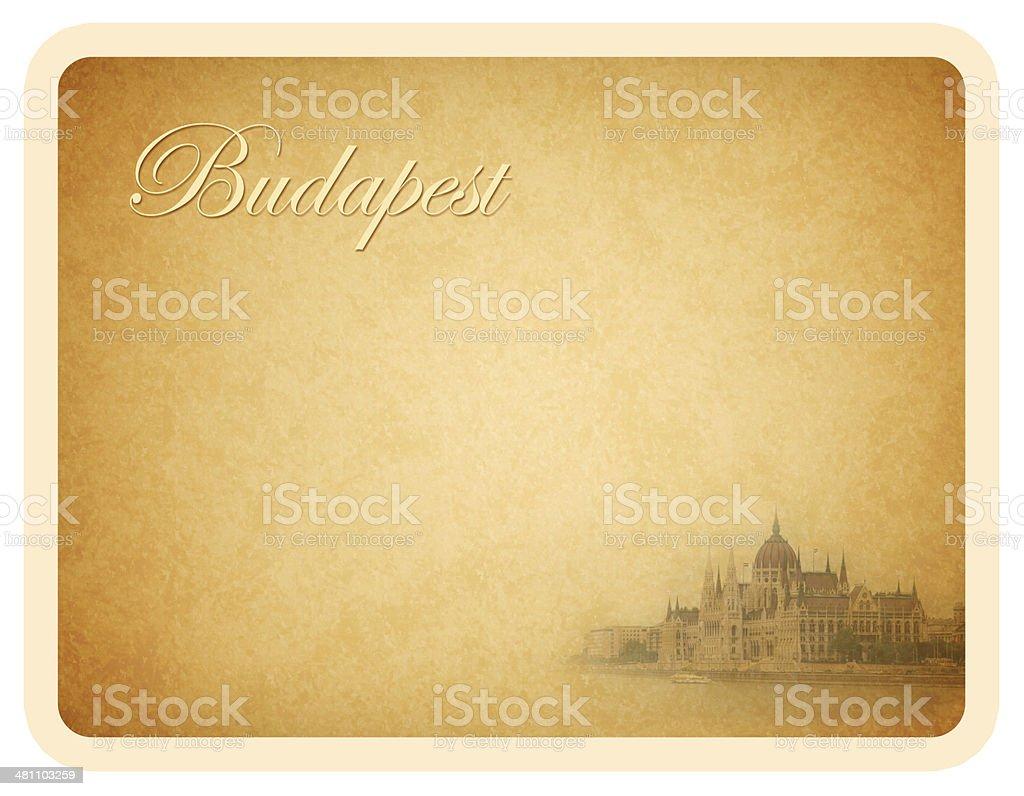 Budapest, Hungary Card royalty-free stock photo