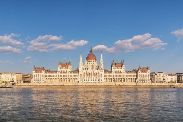 Budapest Hungary, city skyline at Hungarian Parliament and Danube River
