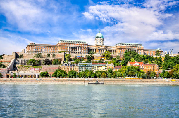 Budapest, Hungary. Danube River and old city of Buda. stock photo