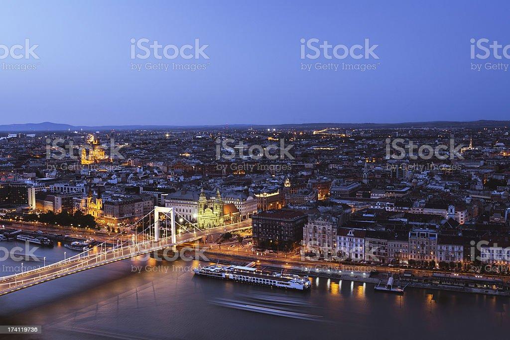 Budapest in Twilight stock photo