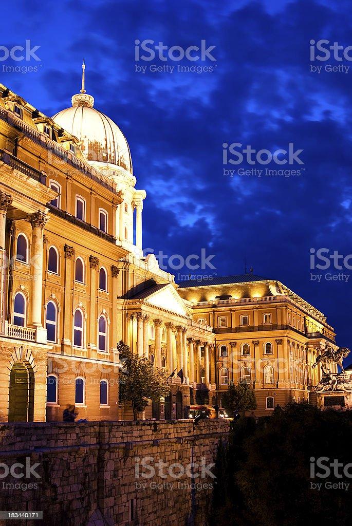 Budapest landmark, night view royalty-free stock photo