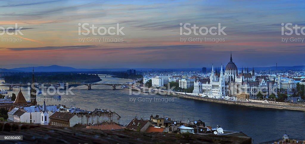 Budapest landscape royalty-free stock photo