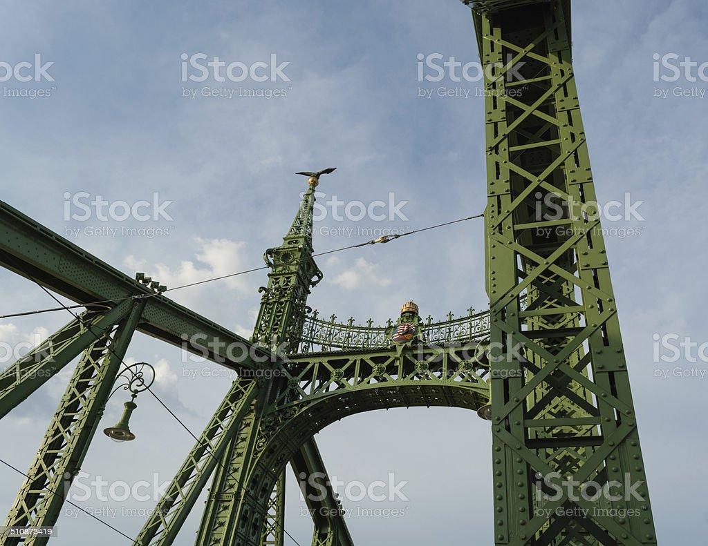 Budapeste Liberty Bridge - foto de acervo