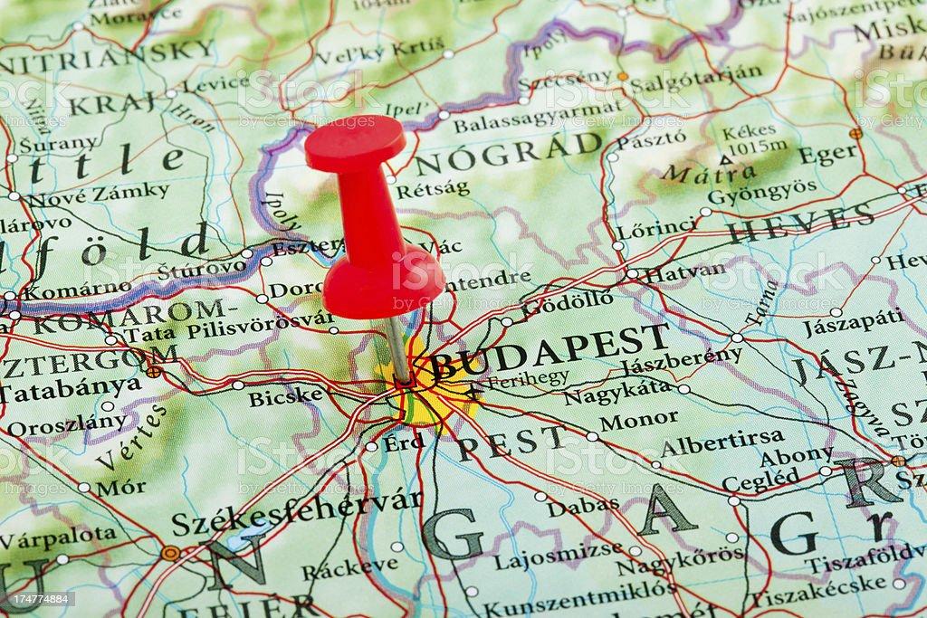 Cartina Geografica Europa Budapest.Mappa Di Budapestungheria Europa Fotografie Stock E Altre