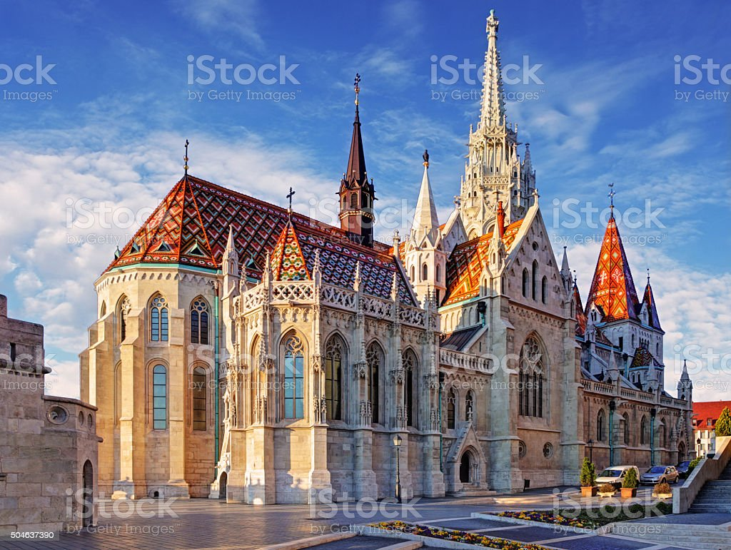 Budapest -  Mathias Church at day stock photo