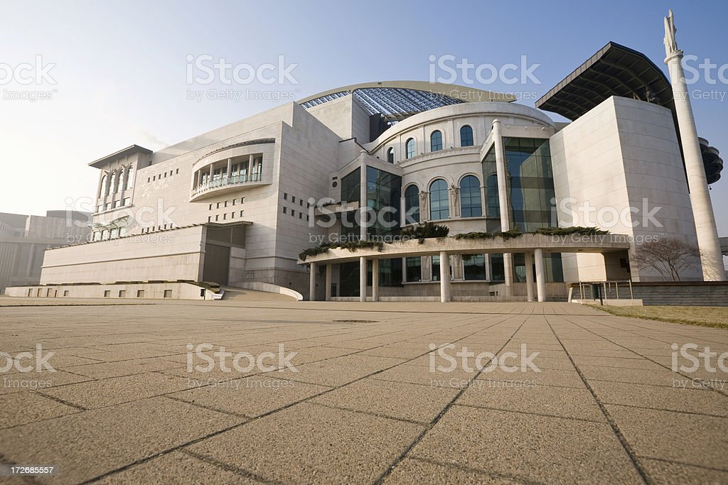 Budapest National Theater, Hungary royalty-free stock photo