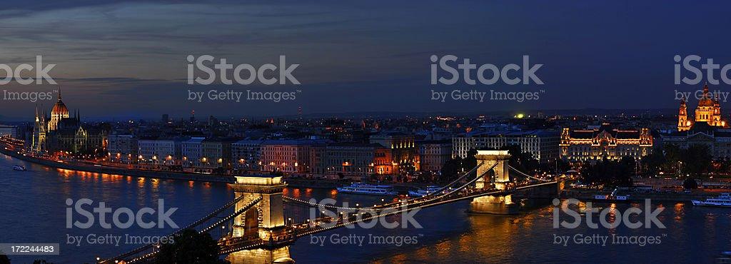 Budapest night landscape royalty-free stock photo