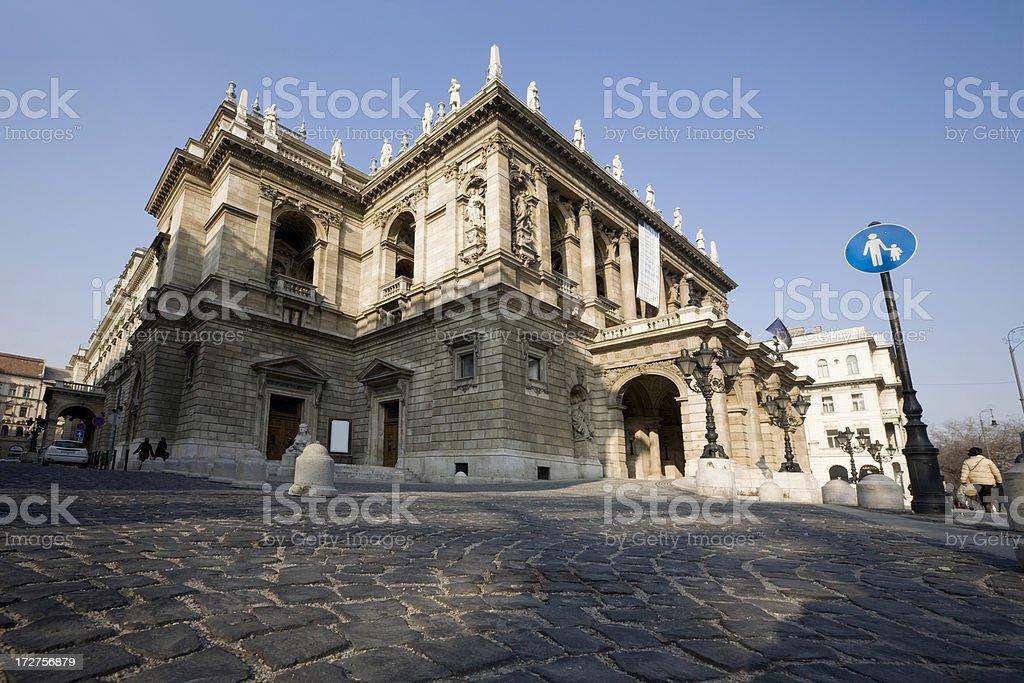 Budapest Opera House royalty-free stock photo