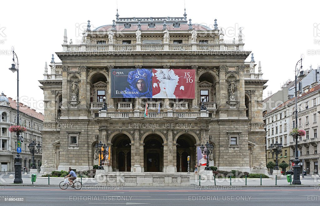 Budapest Opera House stock photo