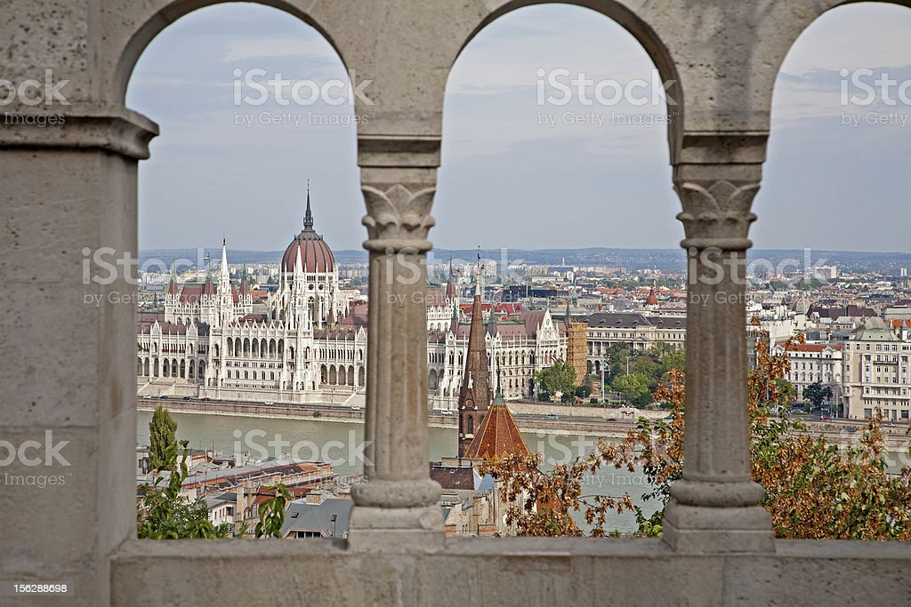 Budapest - outlook from walls to parliament royalty-free stock photo
