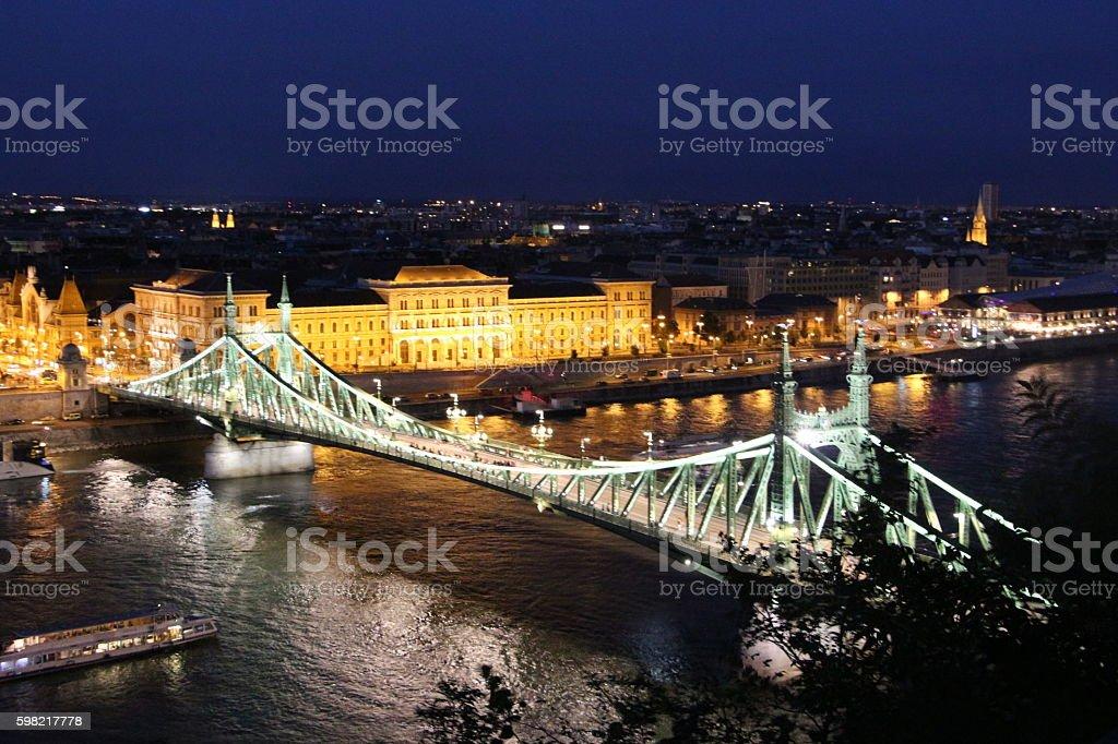 budapest - panorama and liberty bridge foto royalty-free