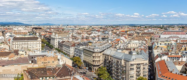Touristic part of the city of Budapest. Urban landscapes and tourist attractions.