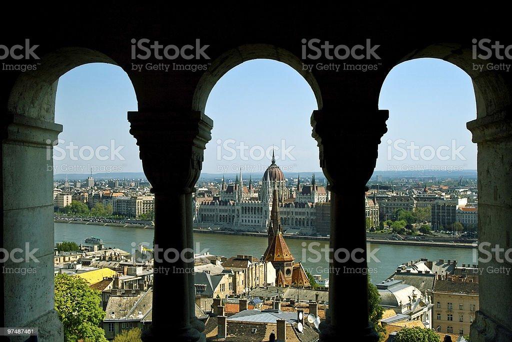 Budapest panorama royalty-free stock photo