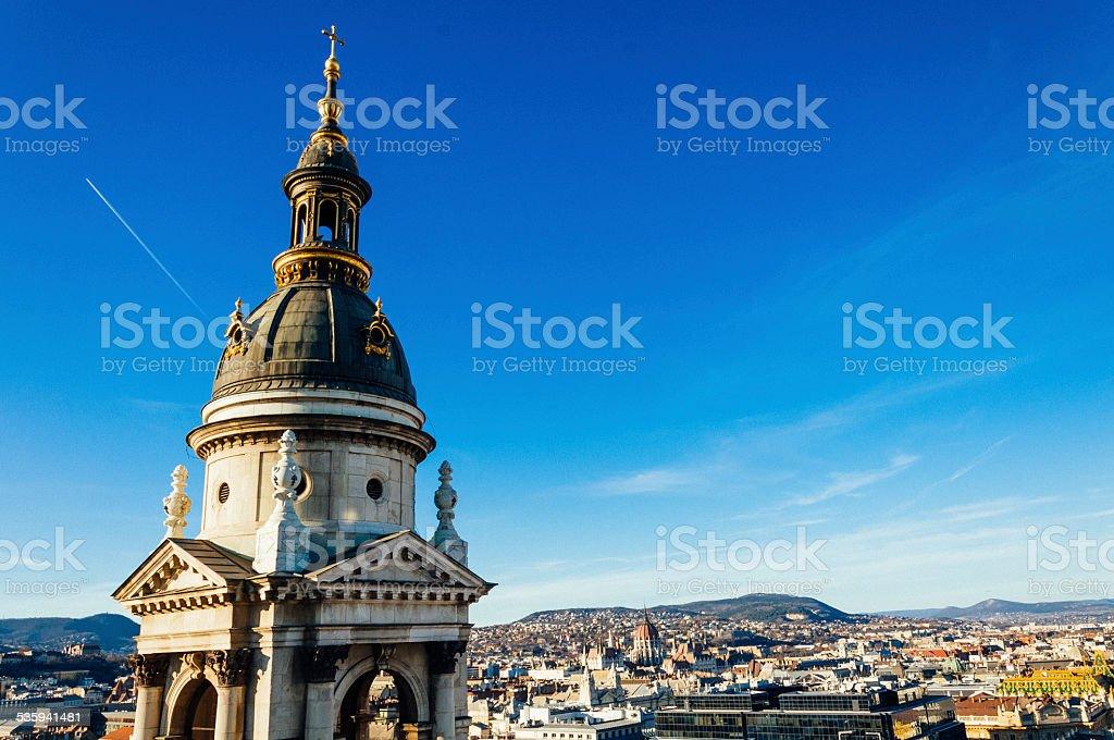 Budapest panoramic view stock photo