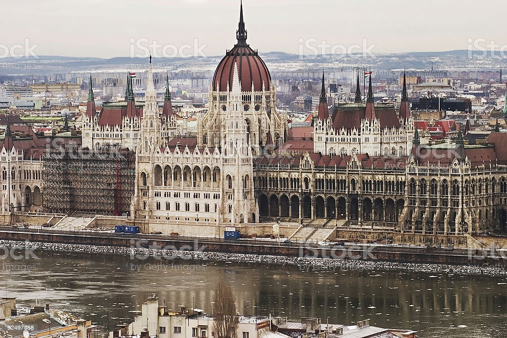 Budapest Parliament Building royalty-free stock photo