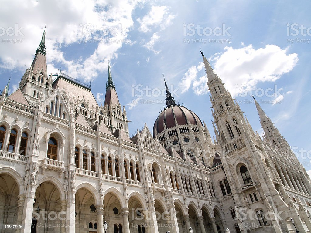 Budapest Parliament stock photo