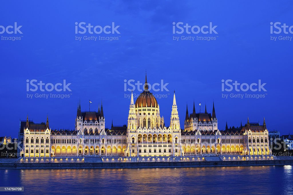 Budapest parliament royalty-free stock photo