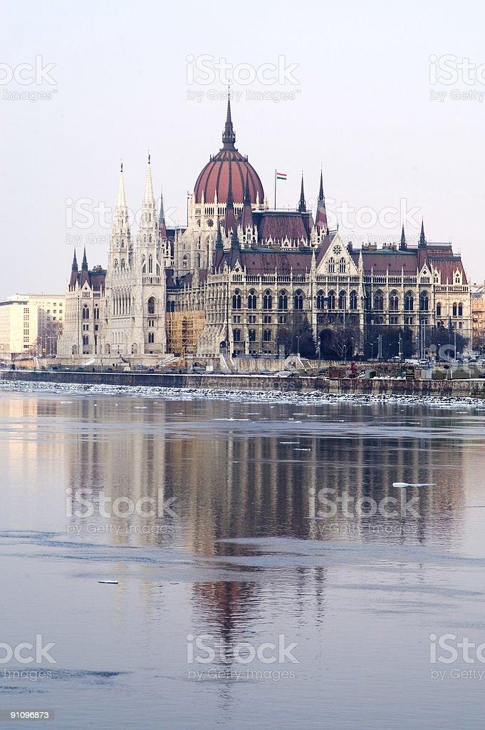Budapest Parliament royalty-free stock photo