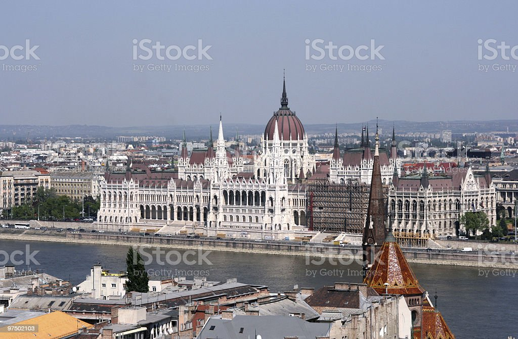 Budapest - parliament royalty-free stock photo