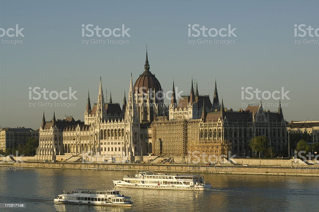 Budapest Parliment stock photo
