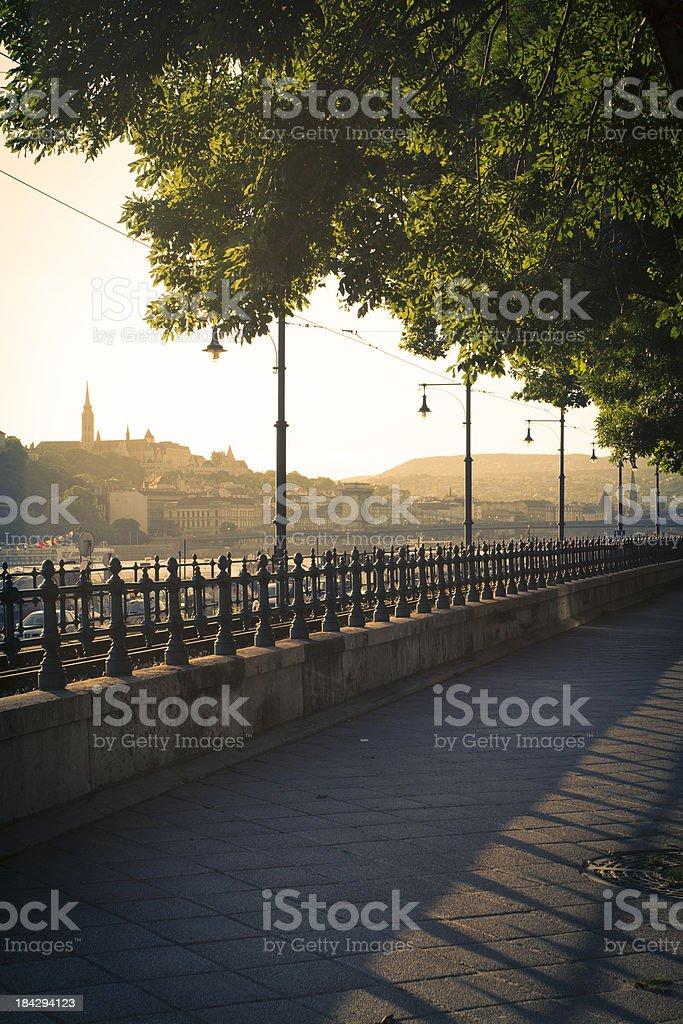 Budapest riverbank royalty-free stock photo
