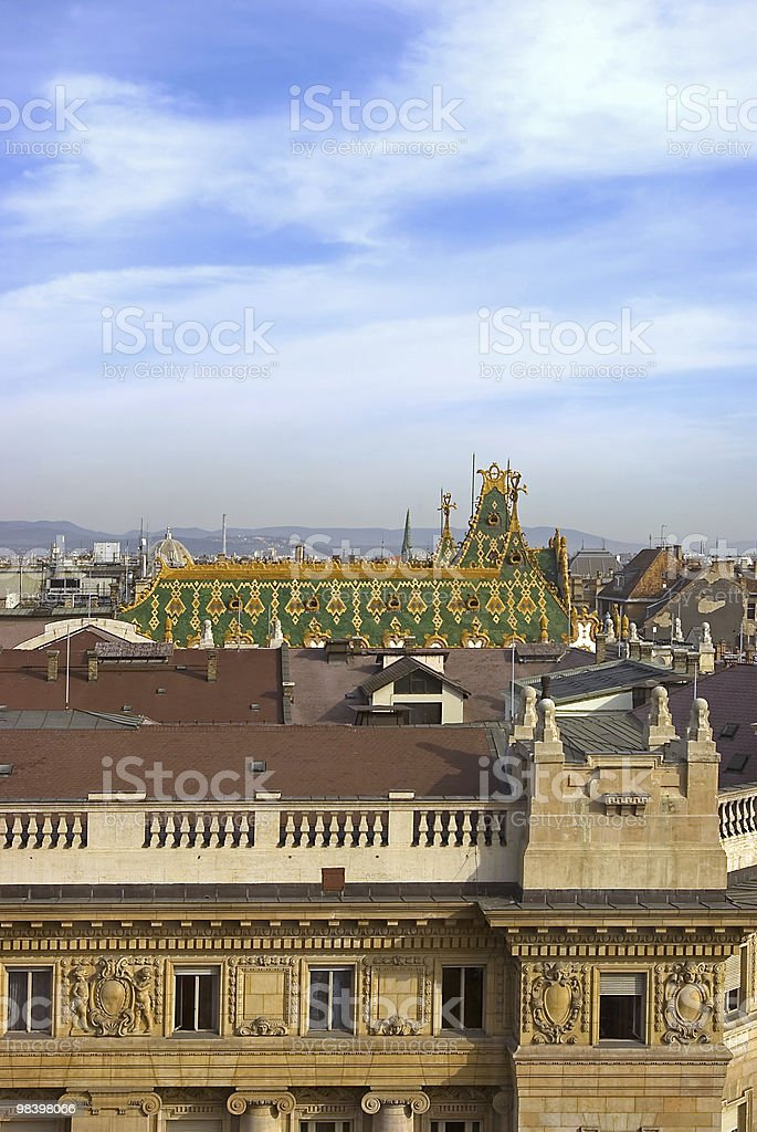 Budapest roofs royalty-free stock photo