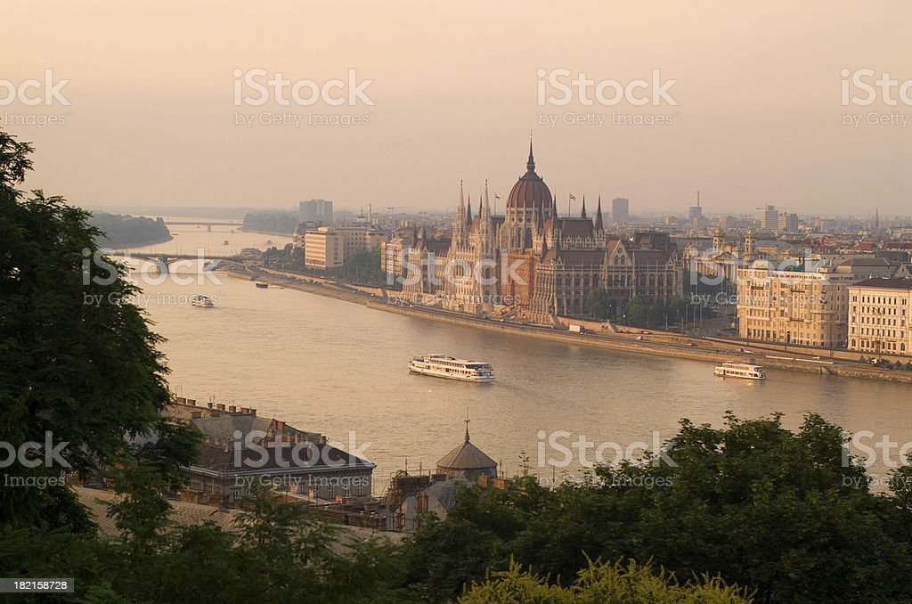 Budapest Skyline royalty-free stock photo