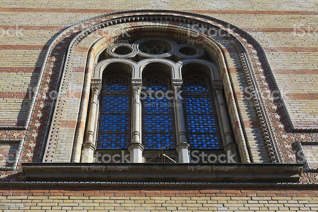 Budapest Synagogue tower royalty-free stock photo